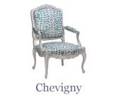 The elegant Chevigny model of Louis XV armchair