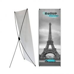 Supports visuels pour les stands : efficacité et rapidité Rollup Corner
